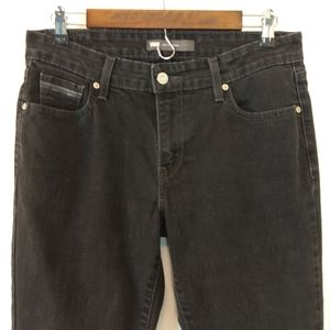 Levi's black pre-washed mid-rise skinny Jeans